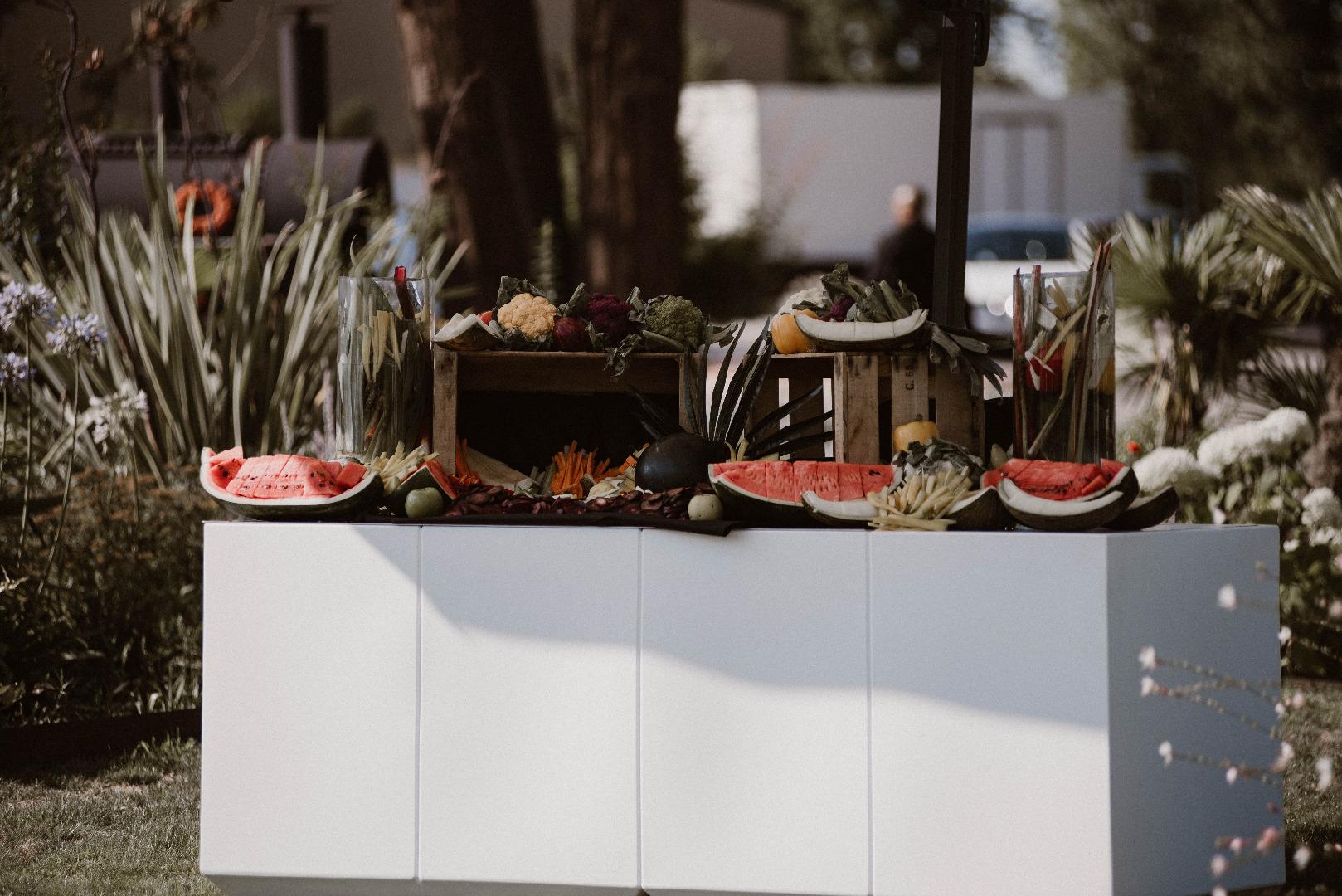 buffet fruits et légumes mariage