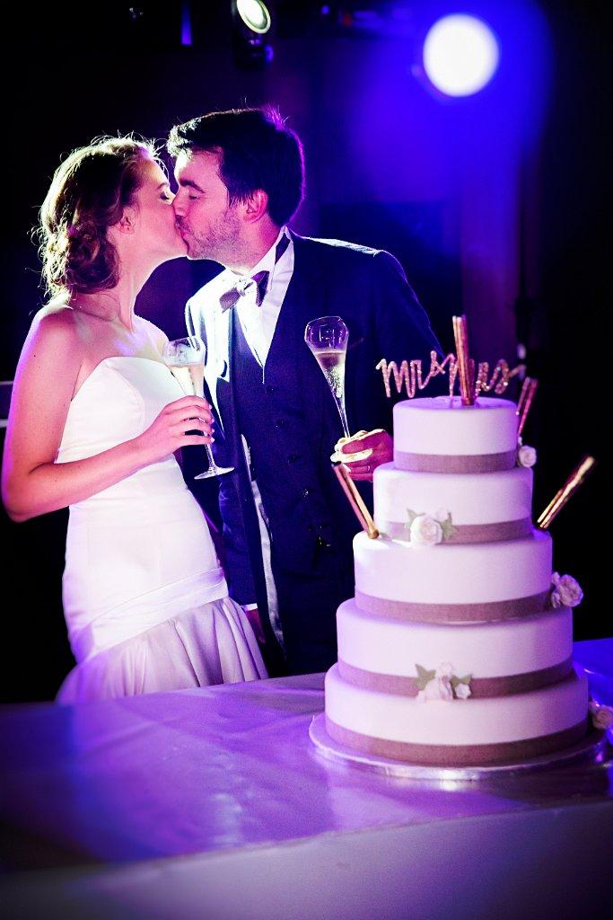 Champagne et Wedding Cake