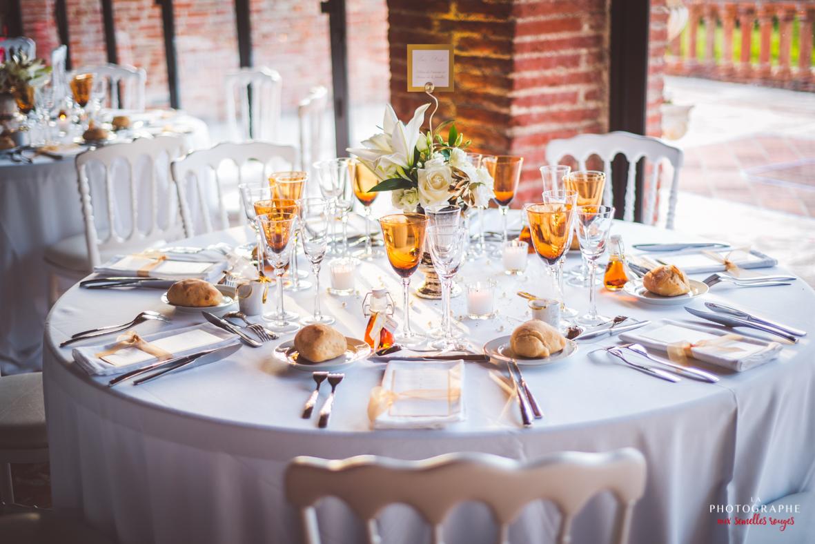 déco table verre roma doré - la dolce vità, château saint louis, mariage Montauban Toulouse