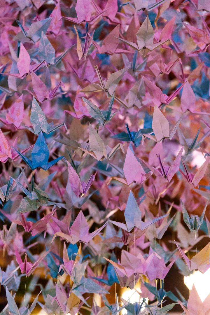 Décoration salle origamie organisation mariage La Dolce Vita Toulouse.JPG