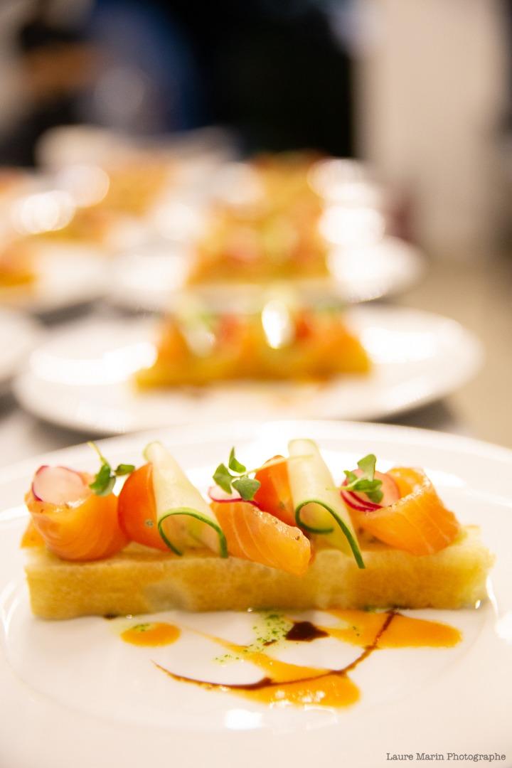Entrée saumon et légumes traiteur Toulouse