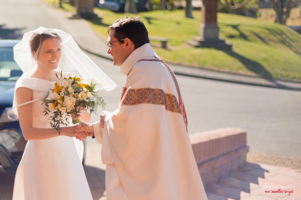 Mariée et prêtre de Montjoire