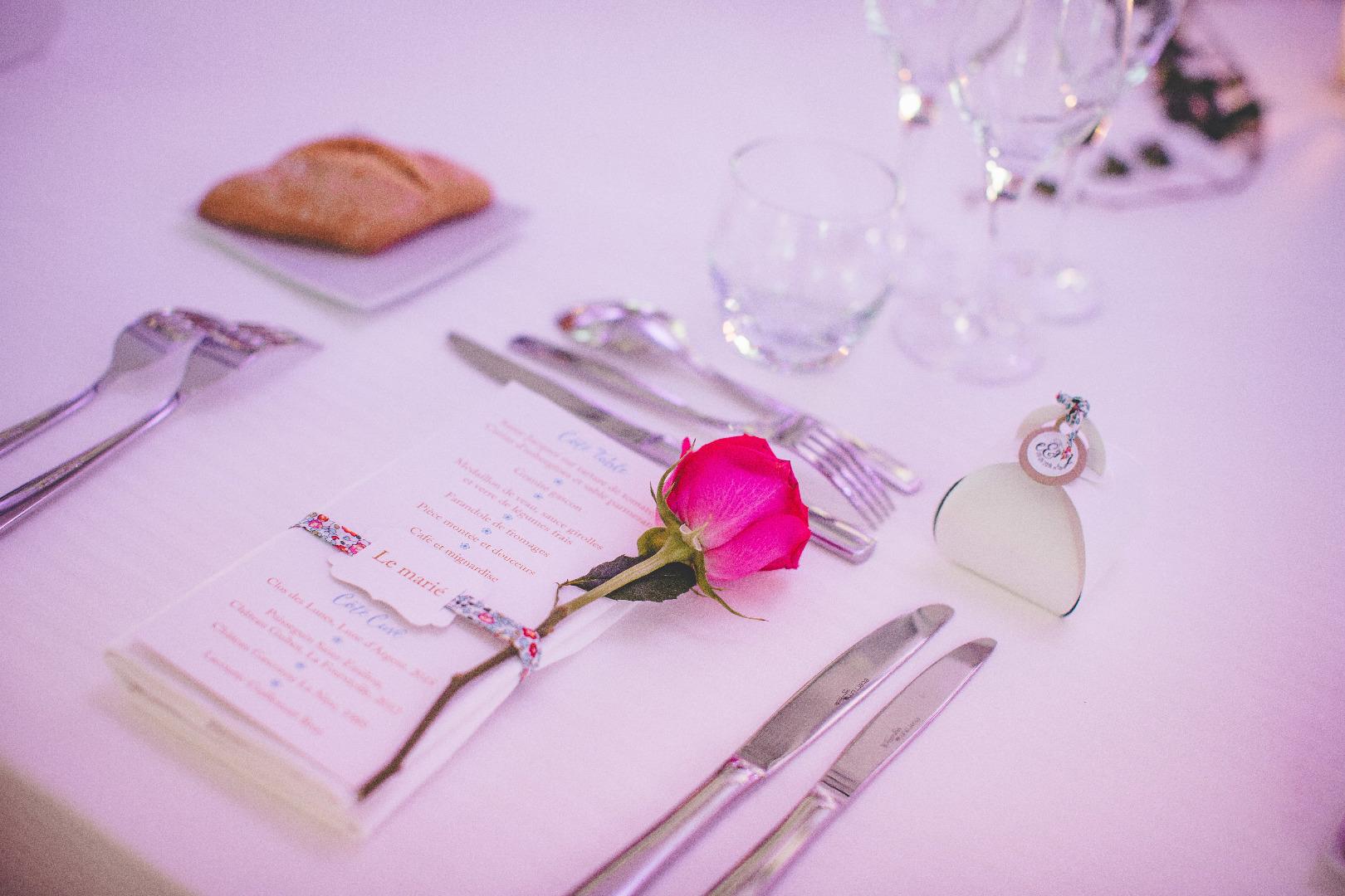 menu et couvert mariage traiteur toulouse