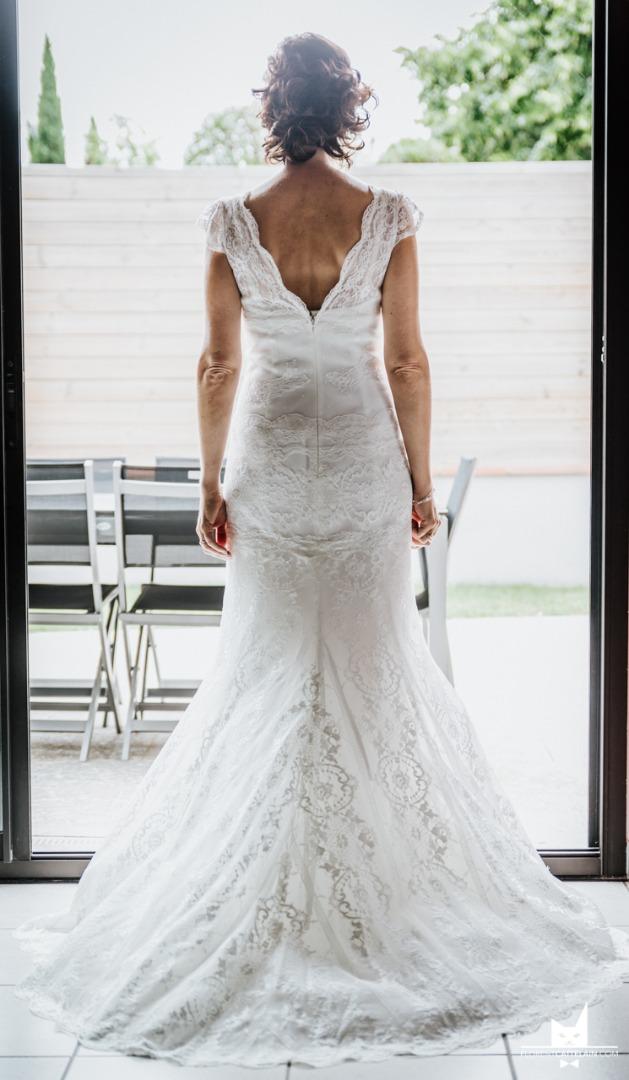 Robe de mariée de dos La Dolce Vita Organisation mariage Toulouse.JPG