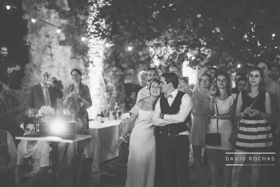 Surprise avec video projecteur pour un mariage